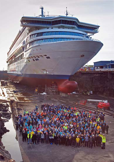 TURKU, FINLAND - AUGUST 30-SEPTEMBER 3, 2014 - The Bridgemans Services refitting of the Silja Europa in Turku, Finland August 30 - September 3, 2014. Photo by Jeff Vinnick/Bridgemans Services